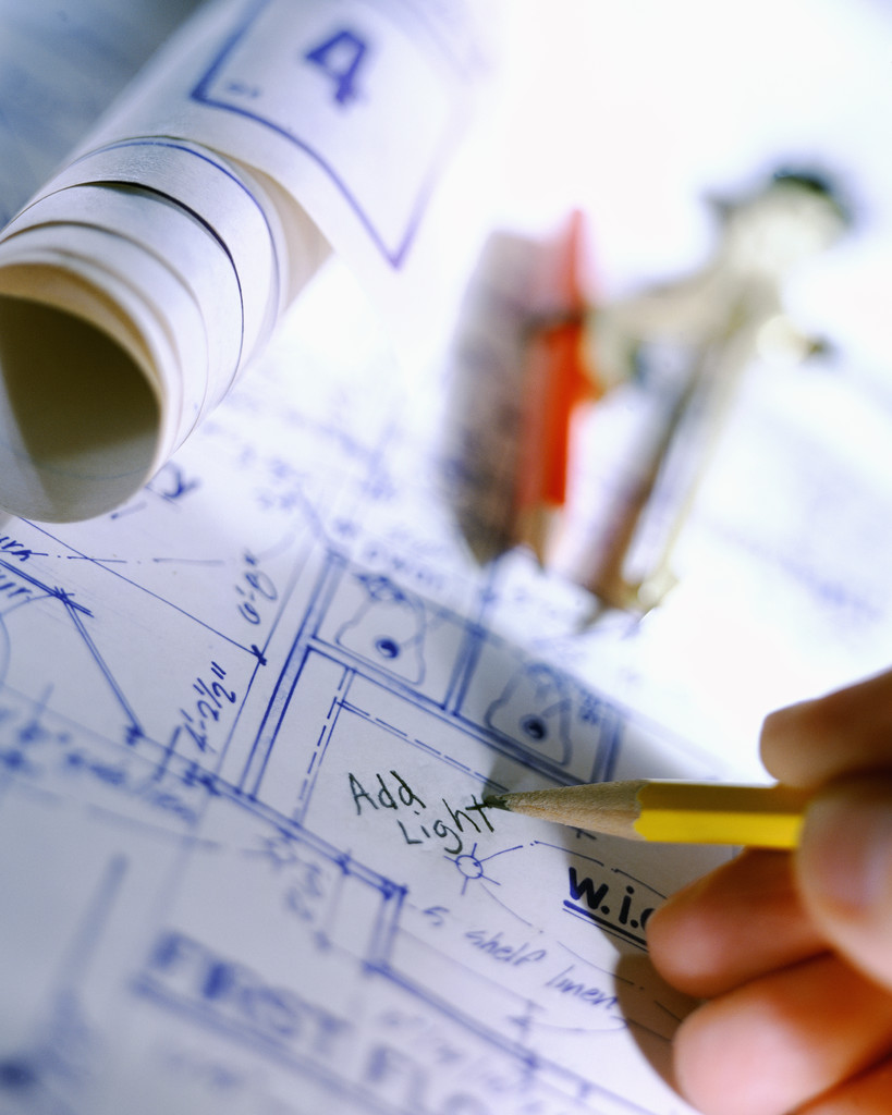 Construction Blueprints and Planning Materials